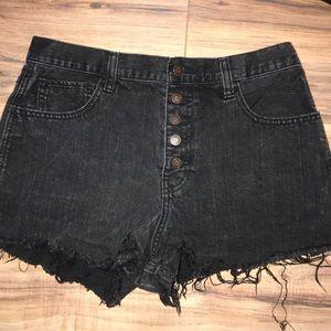 Black Hollister Denim Shorts